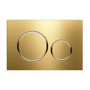 Geberit Brushed Brass Round Sigma 20 Flush Plate