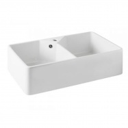 Chester 80 x 50 Double Flat Fine Fireclay Butler Sink with Taphole and Overflow