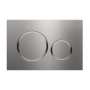 Geberit Brushed Stainless Steel Round Sigma 20 Flush Plate