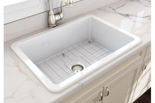 Cuisine 68 x 48 Inset / Undermount Fine Fireclay Sink