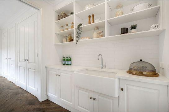 Novi 75 x 46 Fine Fireclay Gloss White Butler Sink