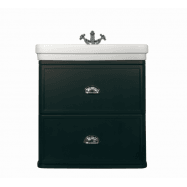 Stafford 62 X 50 Wall-Mounted Basin & Vanity - Black Matte