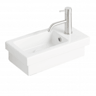 Kenya 42 x 22 Fine Fireclay Wall Hung Wash Basin