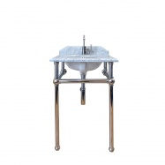 Mayer Washstand With 60 x 55 Real Carrara Marble Top