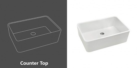 Counter Top - Fireclay Sinks
