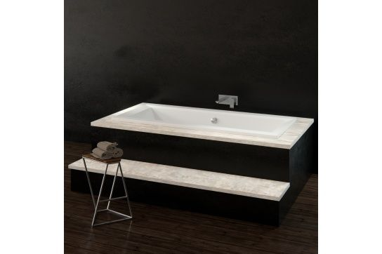 Anzio 1700 Inset Lucite Acrylic Bath with Overflow