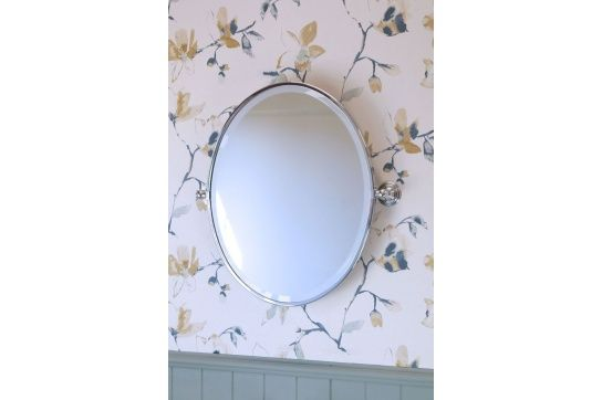 Mayer Brushed Nickel Pivot Oval Mirror