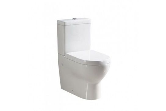 Hartley Close Coupled Back to Wall Toilet Suite with Soft Close Quick Release Seat