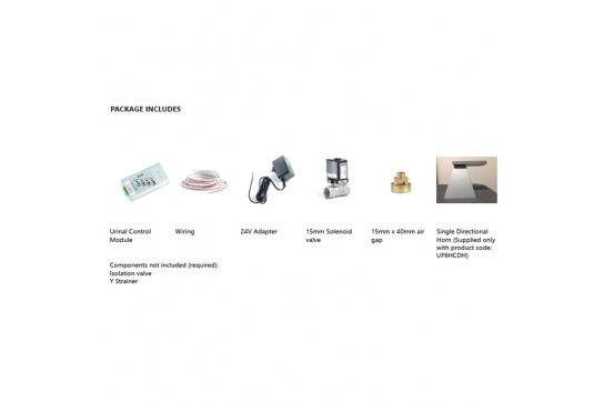 Hyde Concealed Ceiling-mounted Sensor Urinal Flush Valve Kit - Single Solenoid