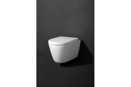 Package - Narva Rimless Wall Hung Pan & Seat + In-wall Cistern + Flush Plate