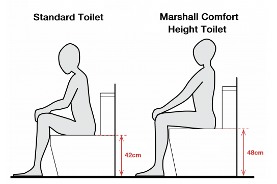 Marshall Comfort Height Close Coupled Back to Wall Toilet Suite with Soft Close Quick Release Seat