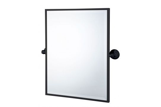Mayer Matte Black Pivot Rectangle Mirror