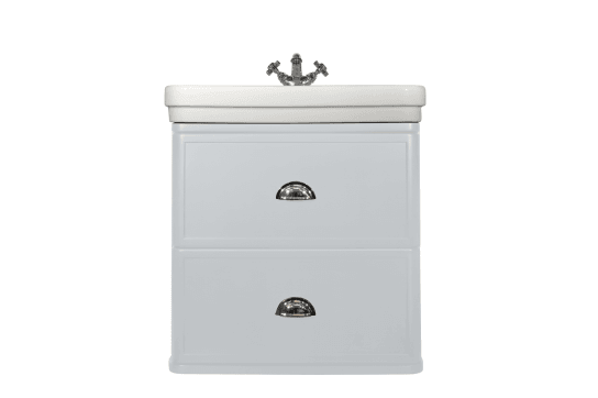 Stafford 62 X 50 Wall-Mounted Basin & Vanity - Misty Grey