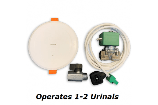 Auto Infra-Red Ceiling-mounted Sensor Urinal Flush Valve Kit - Available Battery or Mains Power